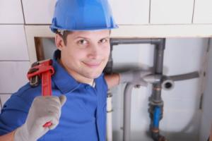 plumber in Santa Clara CA installs washer/dryer hookup